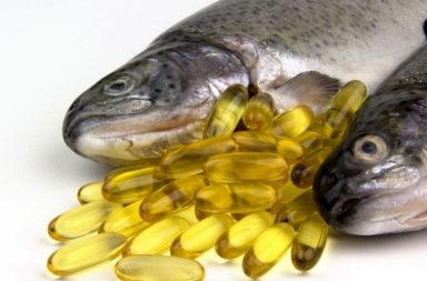 Fresh Rainbow trout and fish oil capsules
