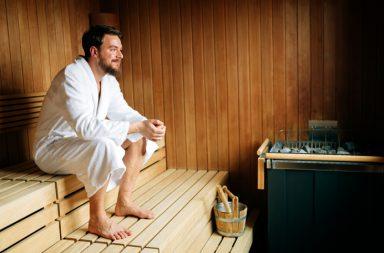 saunabad beschermt mannen